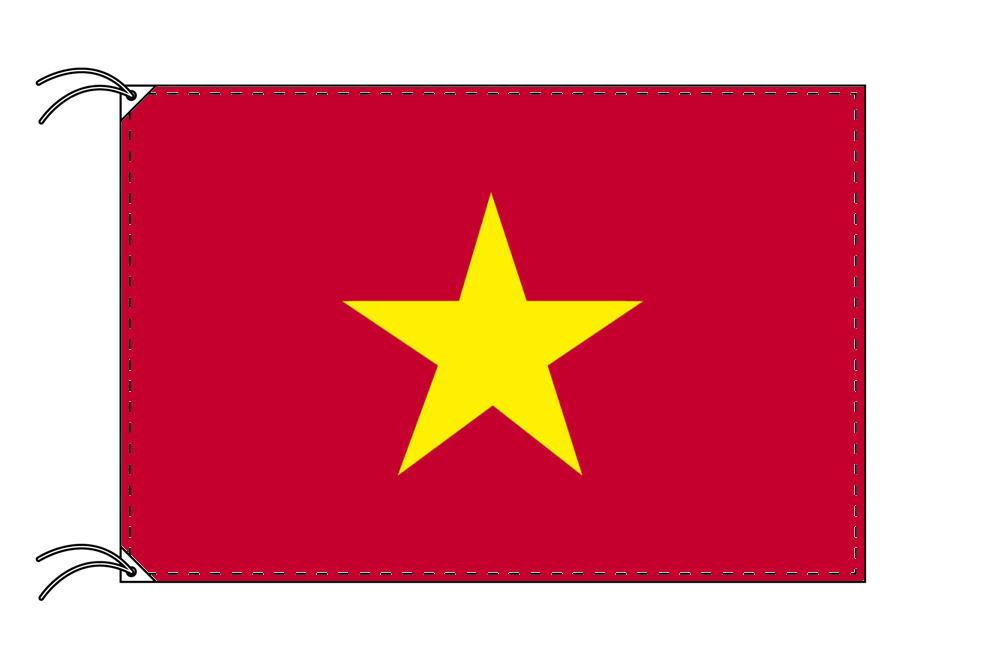 ベトナム・高級大型国旗セット(サイズ90×135cm・ポール・新型フロアスタンド付き)