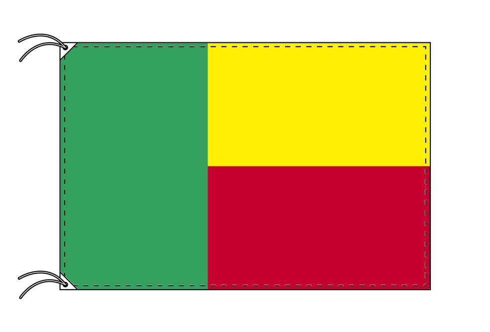 ベナン・高級大型国旗セット(サイズ90×135cm・ポール・新型フロアスタンド付き)