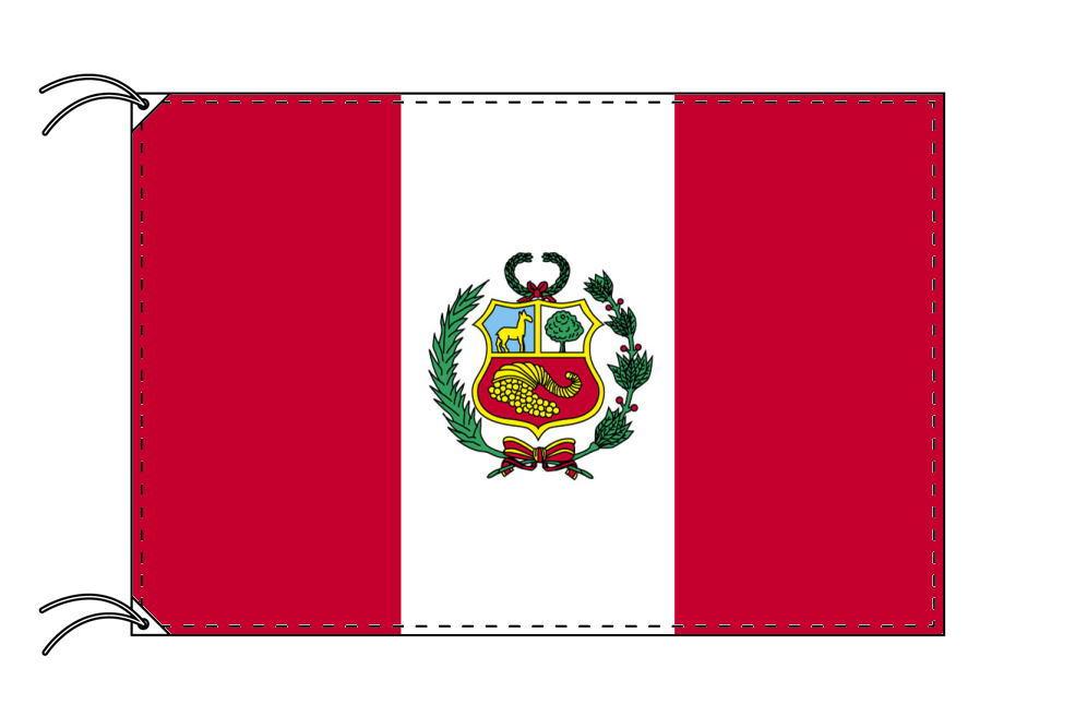 ペルー 国旗 紋章入り 100×150cm テトロン製 日本製 世界の国旗シリーズ