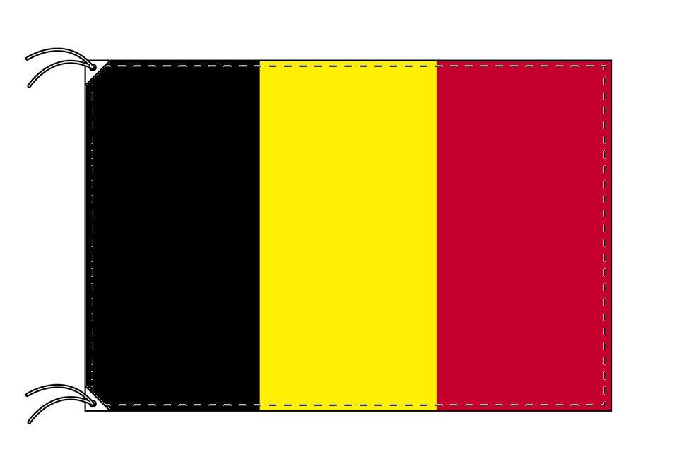 ベルギー・国旗セット[DX]【アルミ合金ポール・取付部品付・テトロン国旗 サイズ70×105cm】安心の日本製