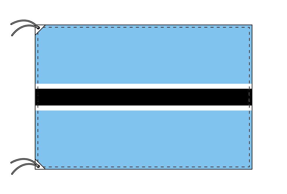 高級直立型スタンド 国旗セット ボツワナ国旗[90×135cm・高級テトロン製]【smtb-u】