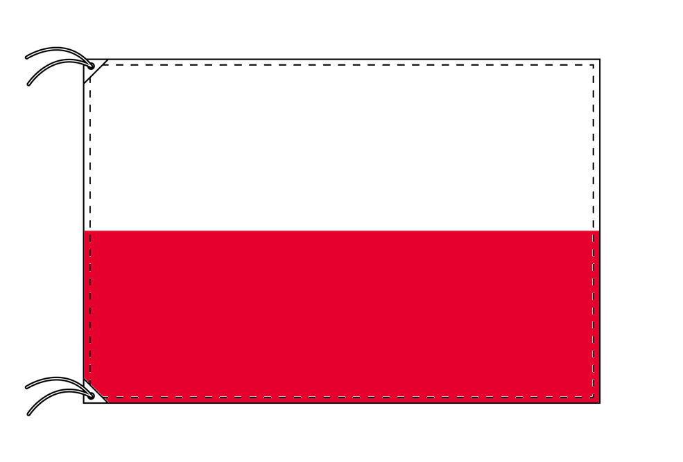 ポーランド・高級大型国旗セット(サイズ90×135cm・ポール・新型フロアスタンド付き)