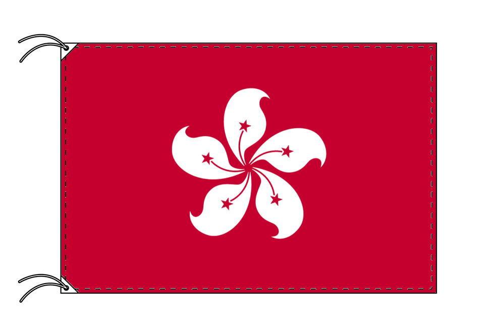 香港[ホンコン]・高級国旗セット(国旗70×105cm・ポール・竿頭・新型フロアスタンド付き)
