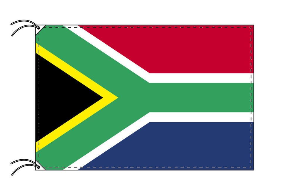 南アフリカ・国旗セット[DX]【アルミ合金ポール・取付部品付・テトロン国旗 サイズ70×105cm】安心の日本製