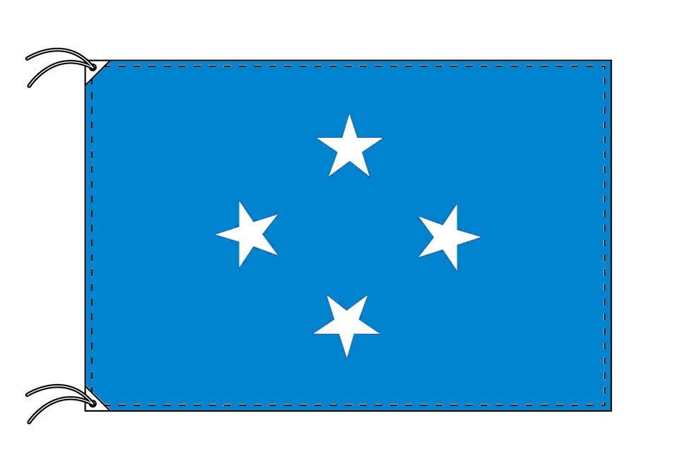ミクロネシア・国旗セット[DX]【アルミ合金ポール・取付部品付・テトロン国旗 サイズ70×105cm】安心の日本製