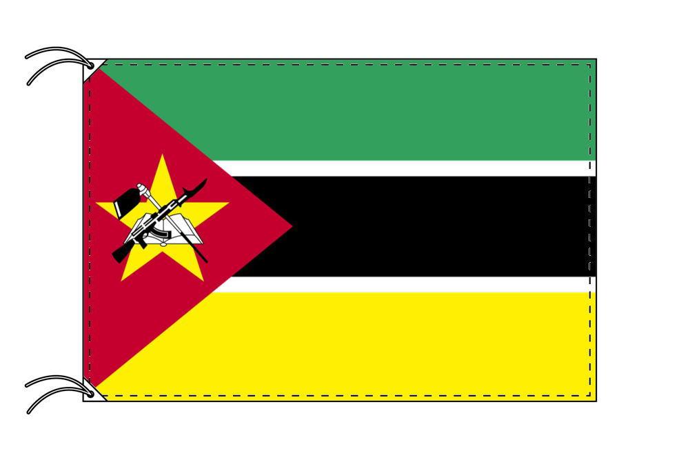 モザンビ-ク・高級国旗セット(国旗70×105cm・ポール・竿頭・新型フロアスタンド付き)