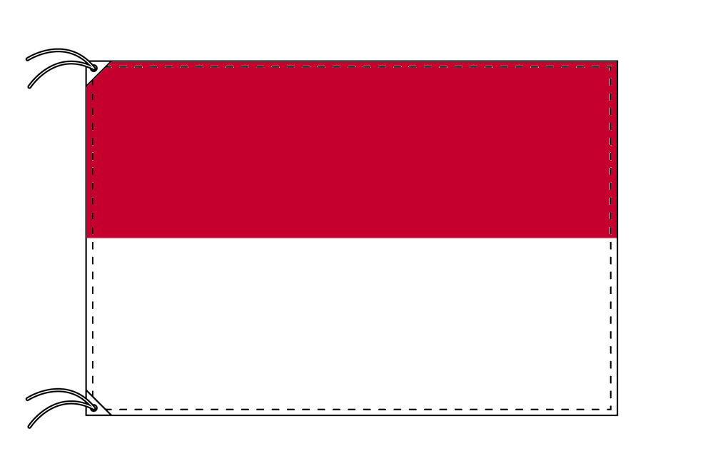 モナコ・国旗セット[DX]【アルミ合金ポール・取付部品付・テトロン国旗 サイズ70×105cm】安心の日本製