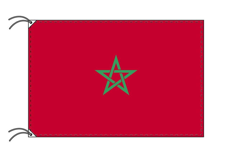 モロッコ・国旗セット[DX]【アルミ合金ポール・取付部品付・テトロン国旗 サイズ70×105cm】安心の日本製