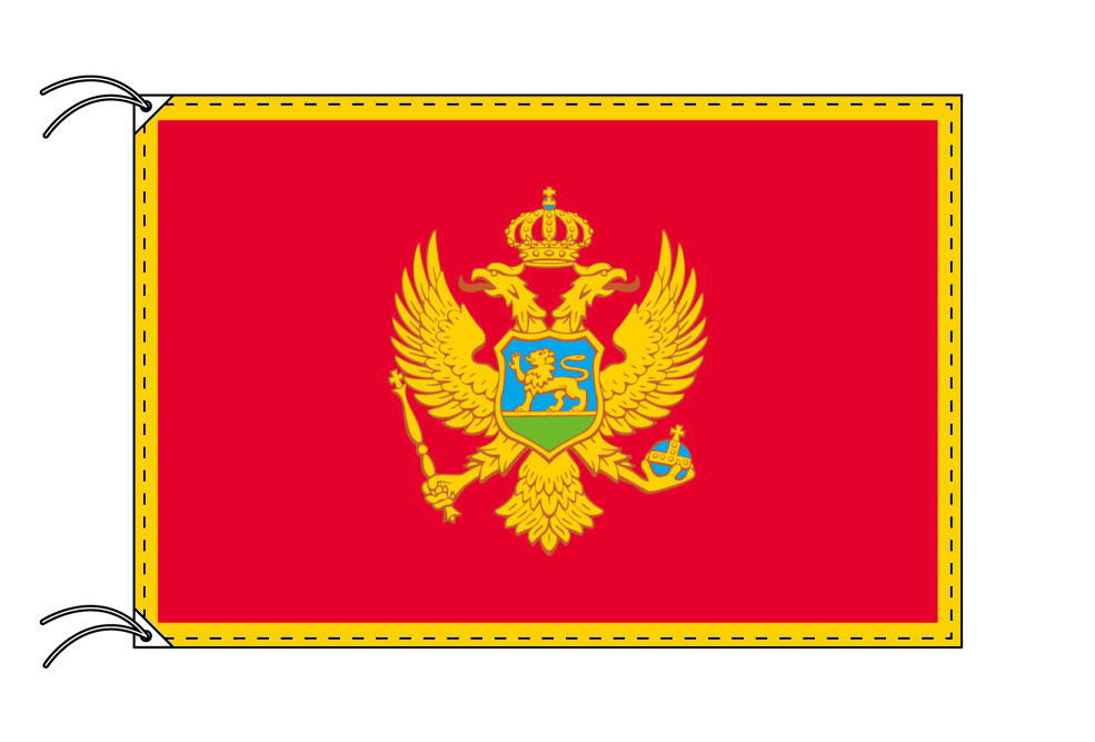 世界の国旗 モンテネグロ国旗[100×150cm・高級テトロン製]