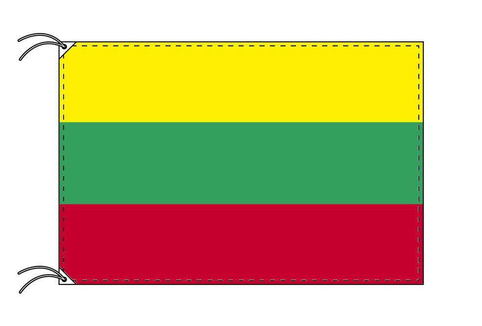 リトアニア・国旗セット[DX]【アルミ合金ポール・取付部品付・テトロン国旗 サイズ70×105cm】安心の日本製