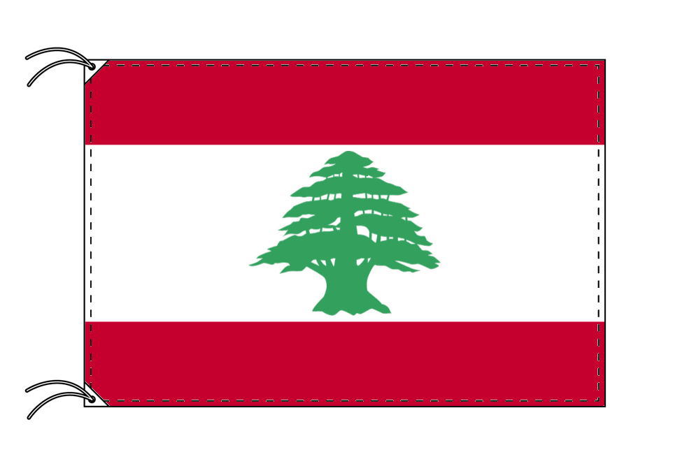 レバノン・国旗セット[DX]【アルミ合金ポール・取付部品付・テトロン国旗 サイズ70×105cm】安心の日本製