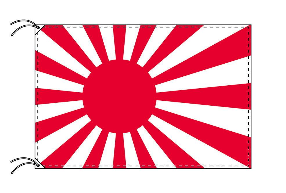 海軍旗・高級大型国旗セット(サイズ90×135cm・ポール・新型フロアスタンド付き)