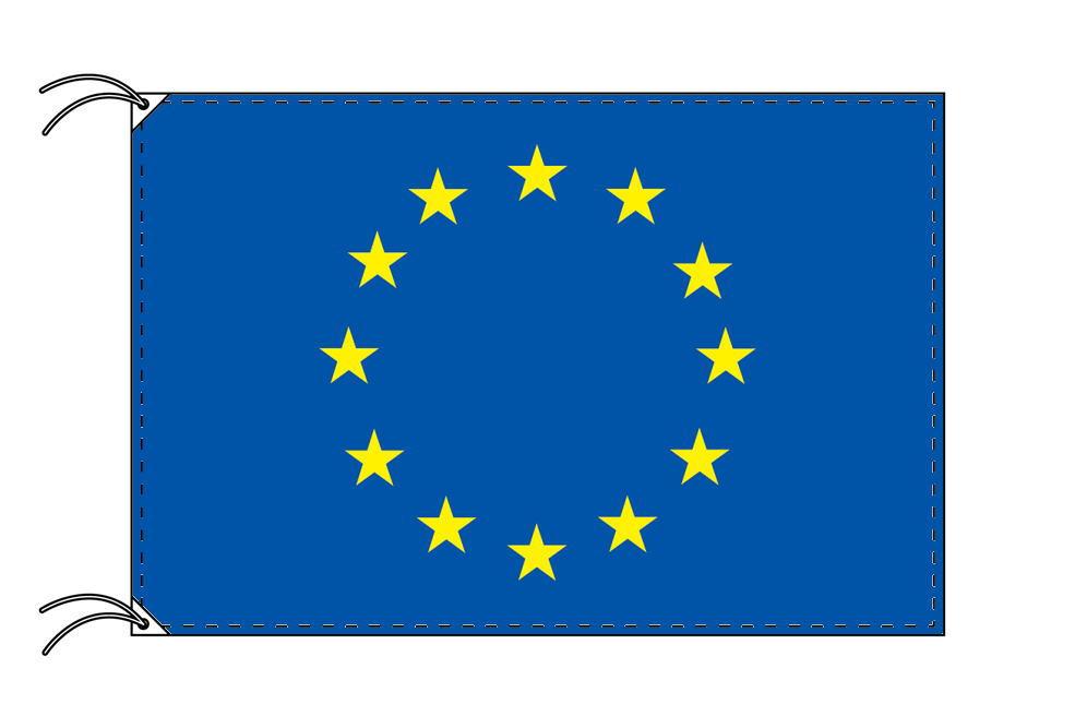 EU[欧州連合]国旗セット[DX]【アルミ合金ポール・取付部品付・テトロン国旗 サイズ70×105cm】安心の日本製