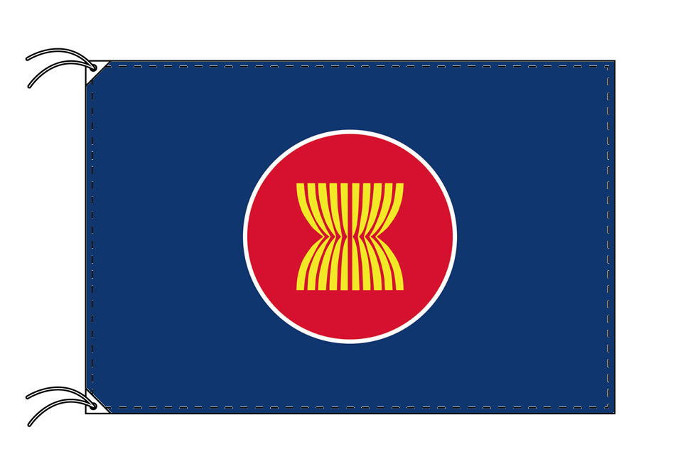 アセアン 東南アジア諸国連合 ・高級国旗セット 国旗70×105cm・ポール・竿頭・新型フロアスタンド付きSVzMpUq