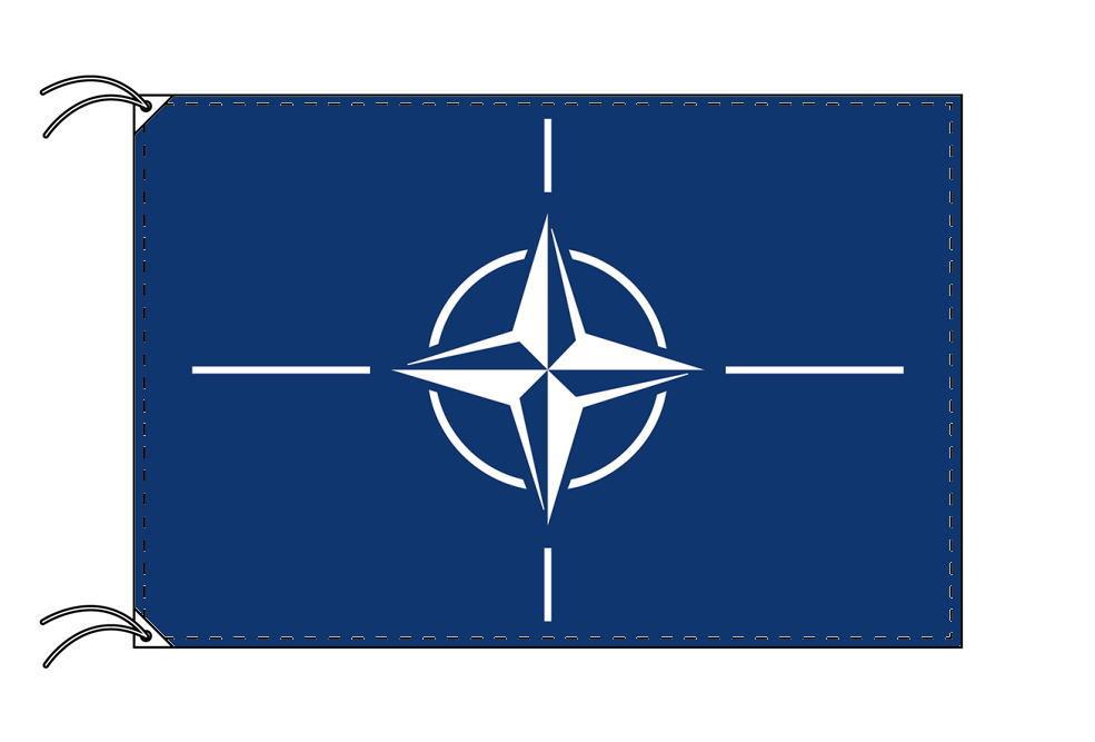 NATO[北大西洋条約機構]国旗・高級国旗セット(国旗70×105cm・ポール・竿頭・新型フロアスタンド付き)
