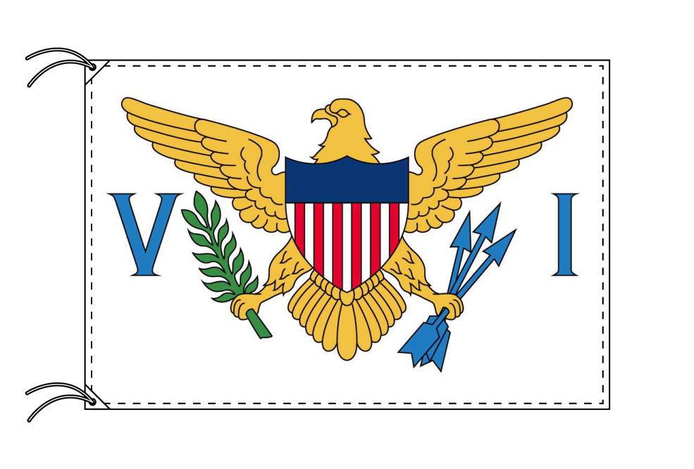 アメリカ領ヴァージン諸島 高級国旗セット(国旗70×105cm・ポール・竿頭・新型フロアスタンド付き) IOC加盟地域