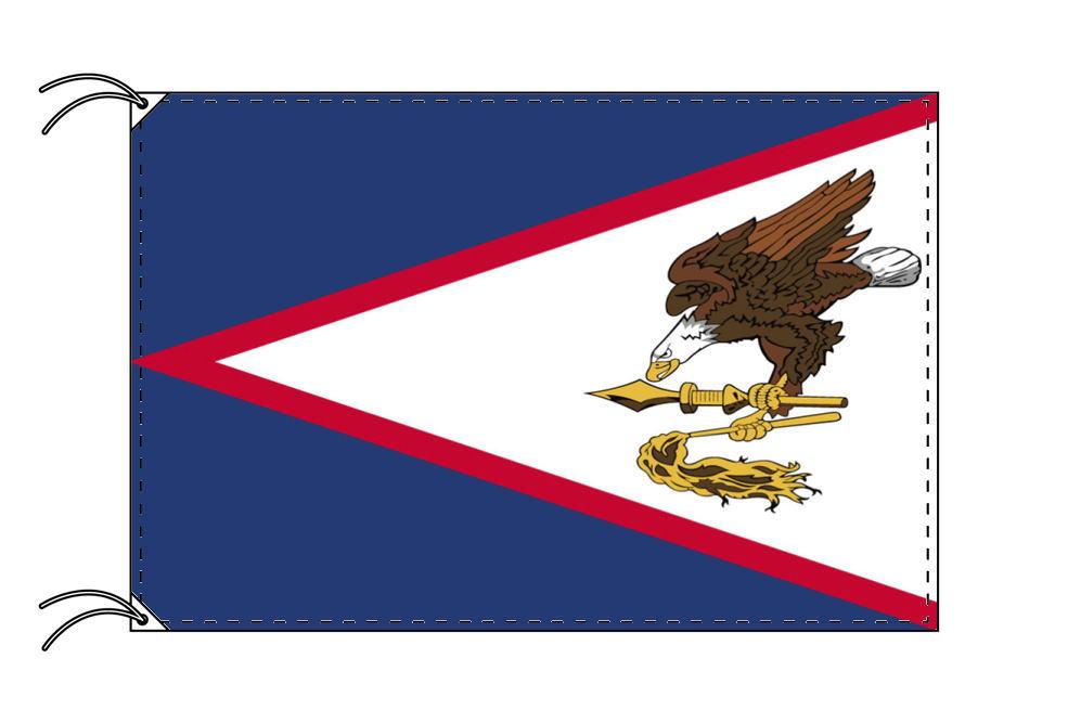 アメリカ領サモア 高級大型国旗セット(サイズ90×135cm・ポール・新型フロアスタンド付き)IOC加盟地域