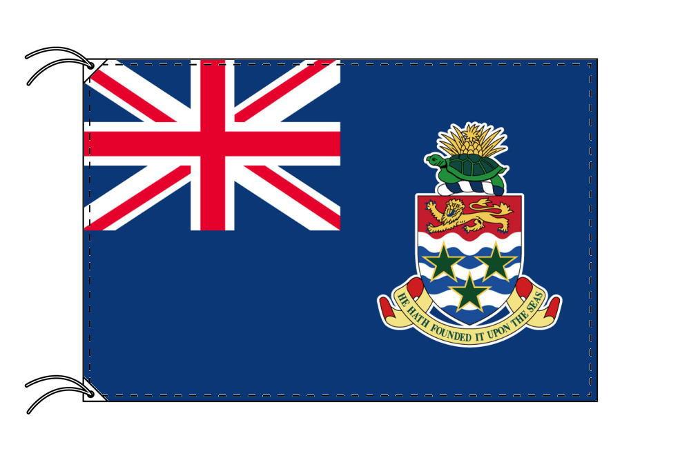 ケイマン諸島 高級大型国旗セット(サイズ90×135cm・ポール・新型フロアスタンド付き)IOC加盟地域