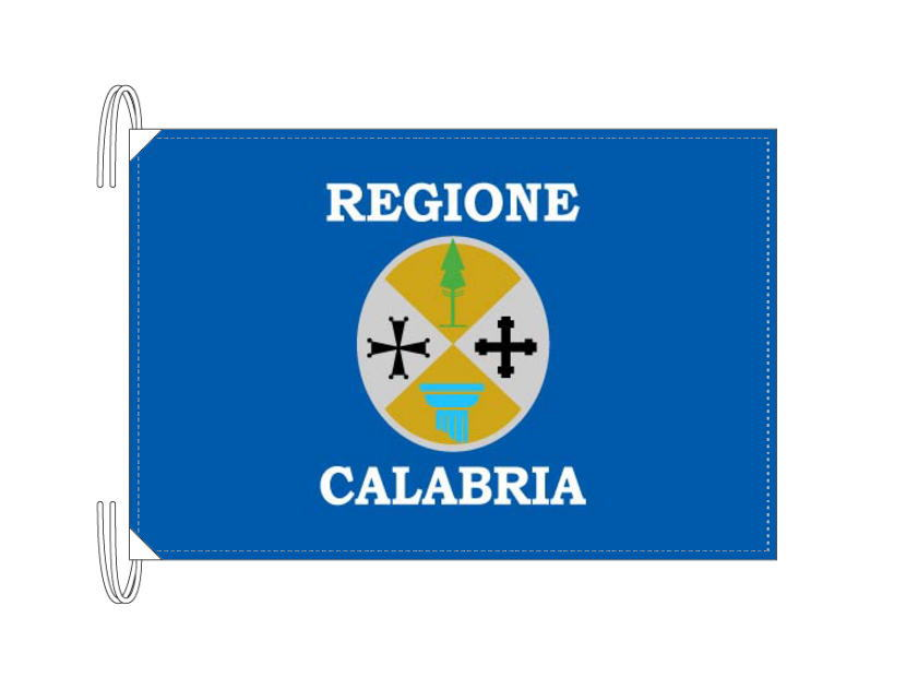イタリア・州旗 カラブリア州(50×75cm・高級テトロン製・日本製)