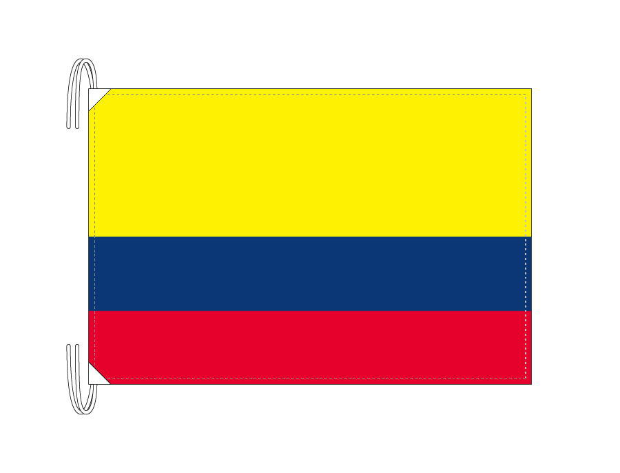 World Flag Colombia Flag Or Semaphore Flag Size 50 X 75 Cm Made Of High Quality Polyester Compatible