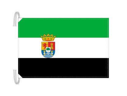 スペイン・自治州旗 エストレマドゥーラ州(50×75cm・高級テトロン・日本製)