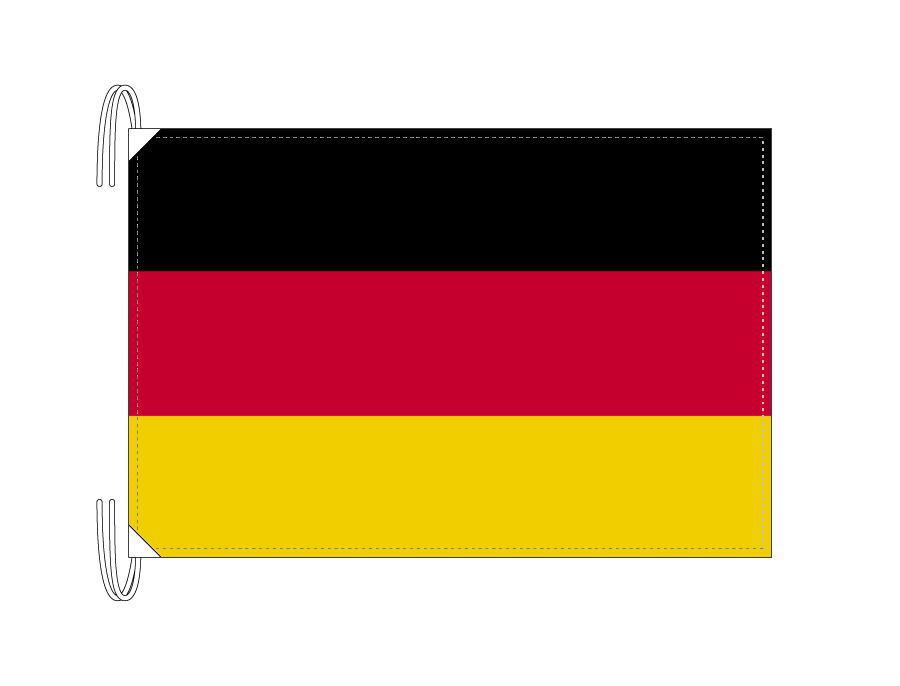 ドイツ 国旗 Lサイズ 50×75cm テトロン製 日本製 世界の国旗シリーズ