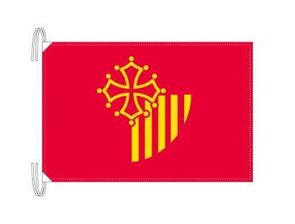 ラングドック=ルシヨン地域圏 フランス地域圏の旗・州旗(50×75cm)