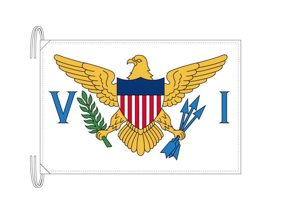 アメリカ領ヴァージン諸島国旗[50×75cm・高級テトロン製]日本製 IOC加盟地域