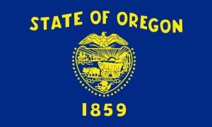 オレゴン州旗[アメリカ合衆国の州旗・50×75cm・高級テトロン製]