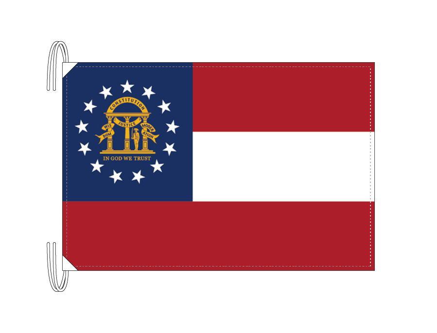 ジョージア州旗[アメリカ合衆国の州旗・50×75cm・高級テトロン製]