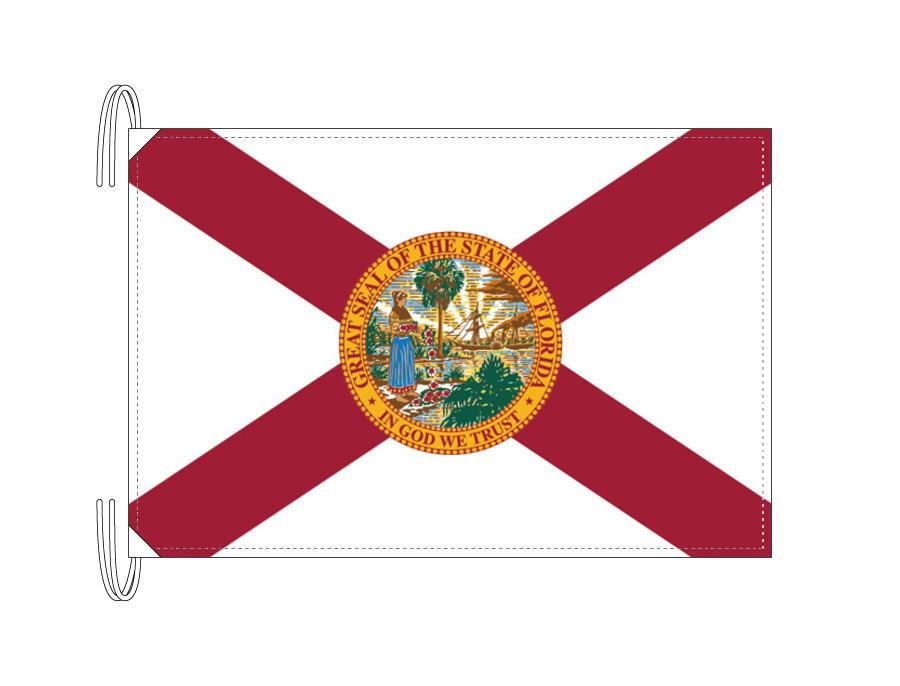 フロリダ州旗[アメリカ合衆国の州旗・50×75cm・高級テトロン製]
