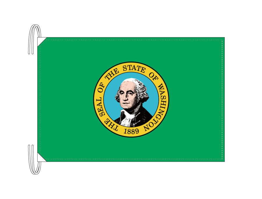 ワシントン州旗[アメリカ合衆国の州旗・50×75cm・高級テトロン製]