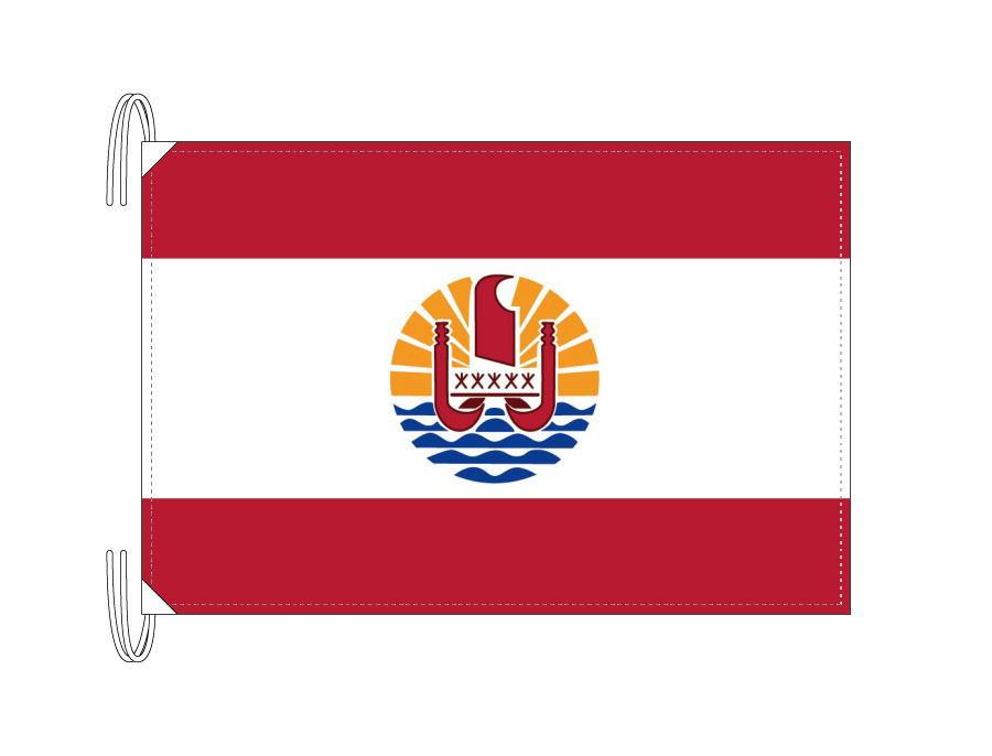 ポリネシア 国旗 フランス領[50×75cm・高級テトロン製]受注生産