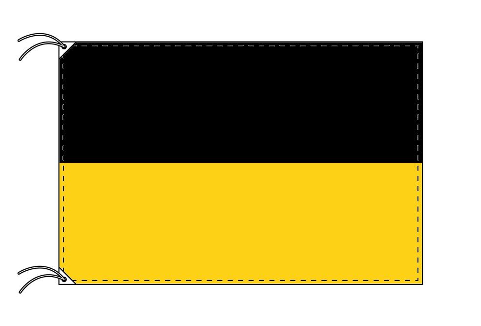 ドイツ・州旗 バーデン=ヴュルテンベルク州(120×180cm・高級テトロン・日本製)