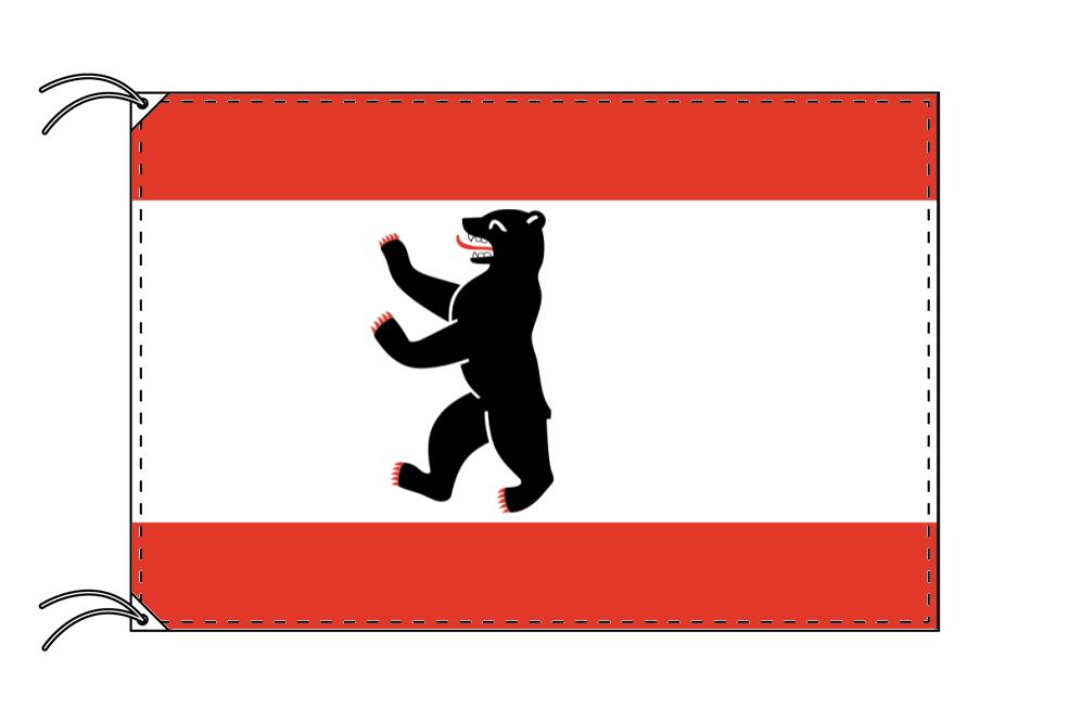 ドイツ・州旗 ベルリン(100×150cm・高級テトロン・日本製)