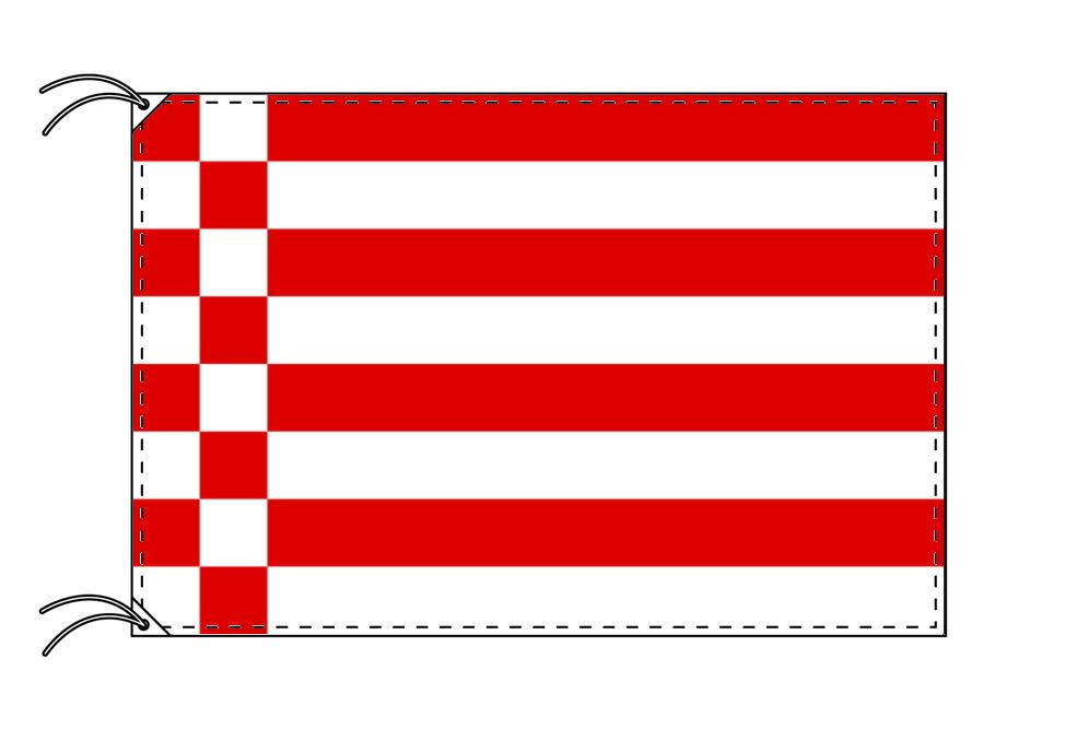 ドイツ・州旗 自由ハンザ都市ブレーメン(100×150cm・高級テトロン・日本製)