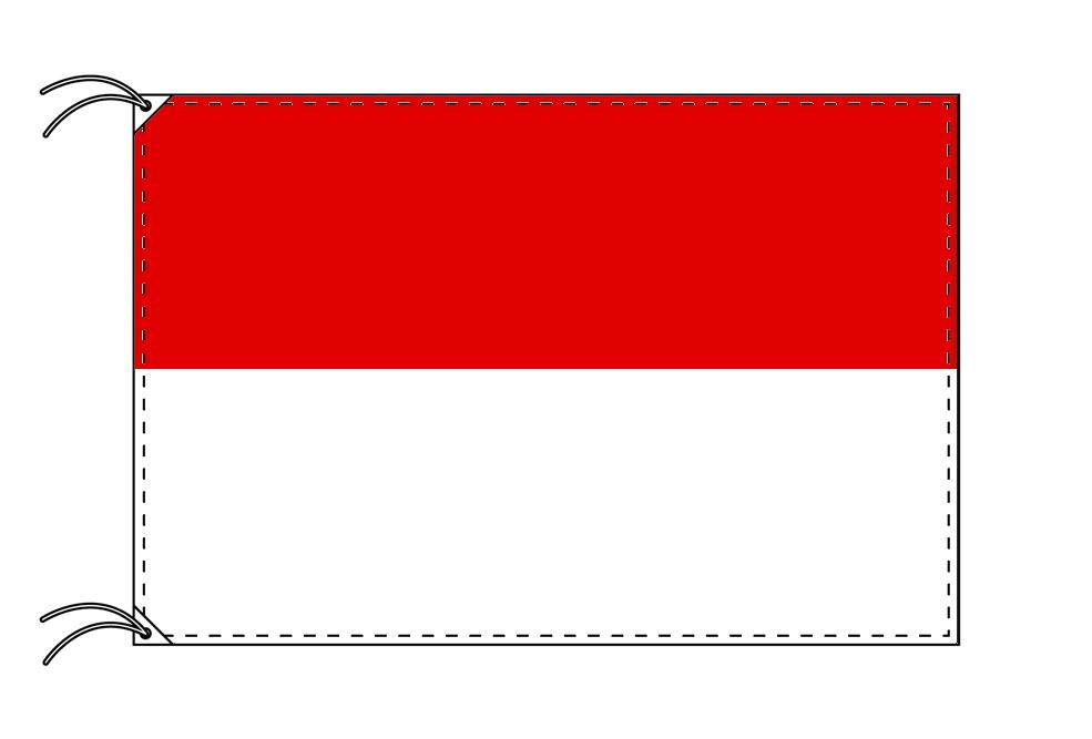 ドイツ・州旗 ヘッセン州(120×180cm・高級テトロン・日本製)
