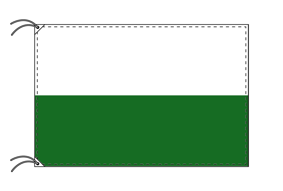 ドイツ・州旗 ザクセン自由州(100×150cm・高級テトロン・日本製)