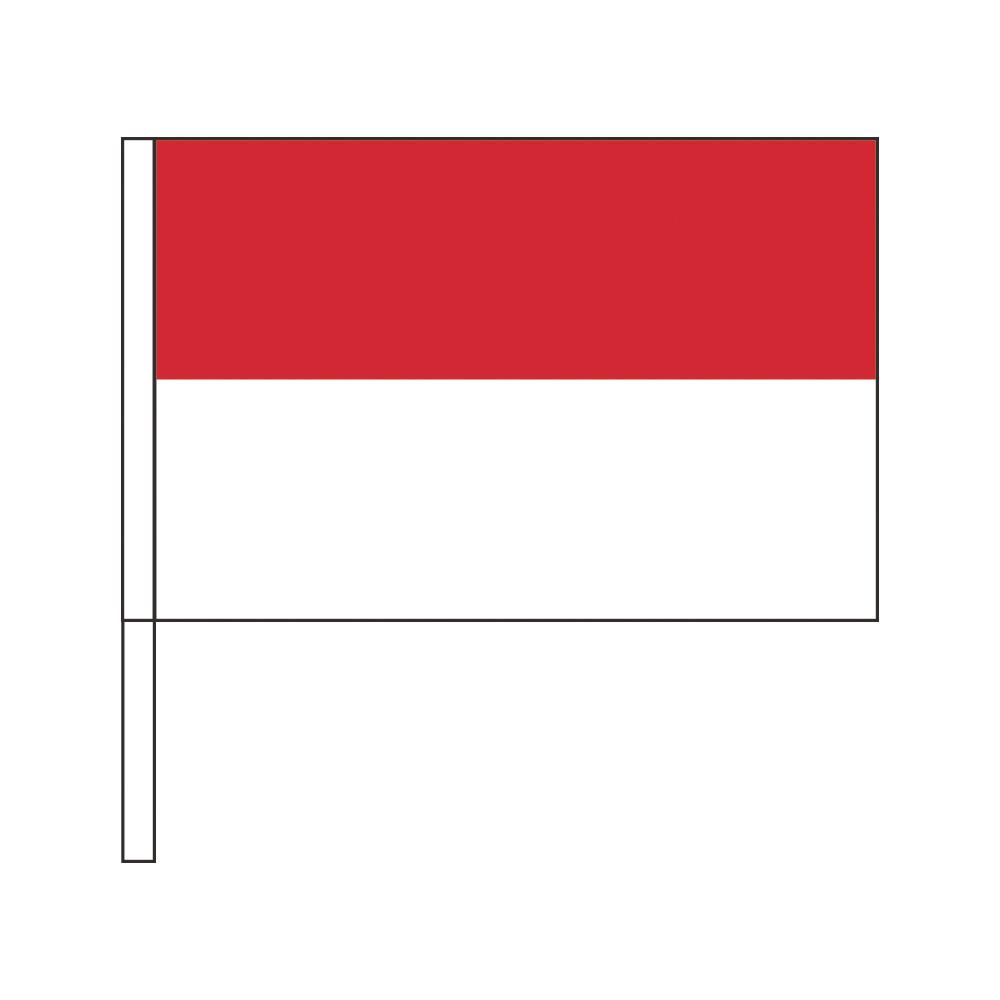 インドネシア 国旗 税込 応援手旗SF 旗サイズ20×30cm 実物 ポリエステル製 ポール31cmのセット