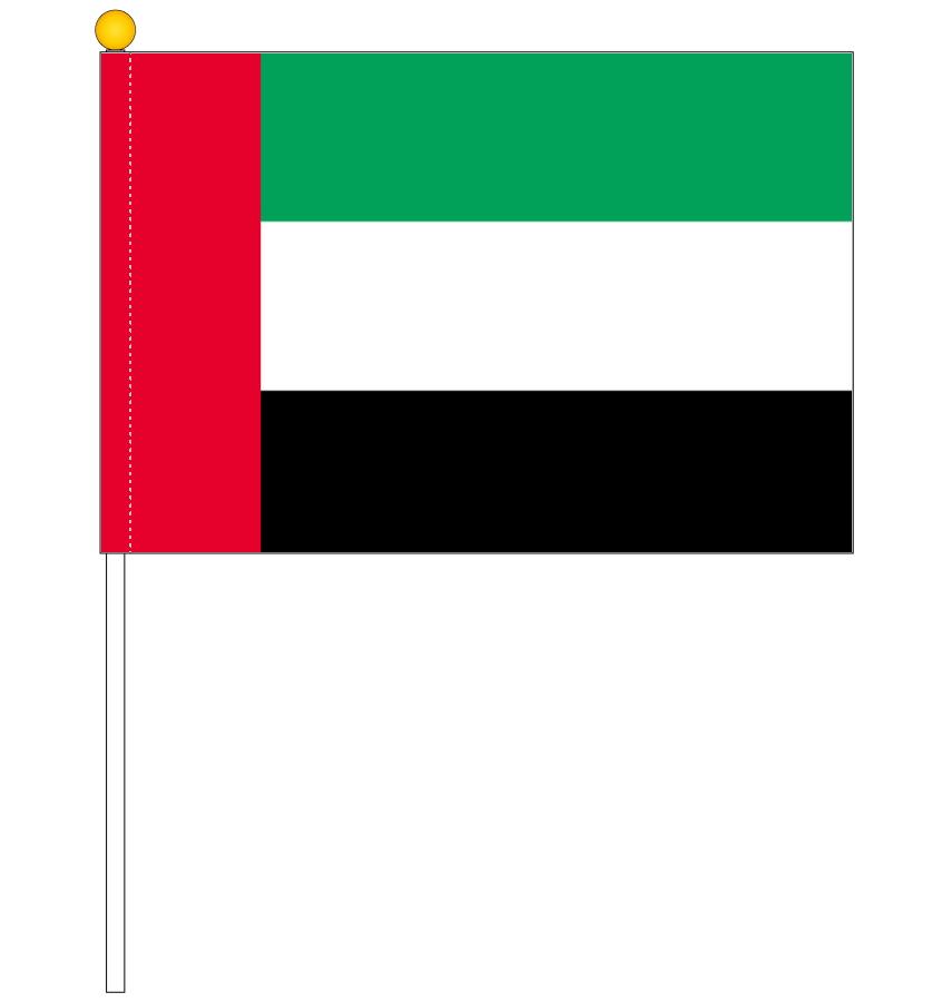 売買 携帯に最適なP-flagに吸盤付セット登場 アラブ首長国連邦 UAE 国旗 ポータブルフラッグ 旗サイズ25×37.5cm 日本製 テトロン製 実物 吸盤付きセット 世界の国旗シリーズ