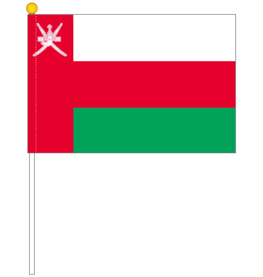 Portable Flag And National Flag Oman Flag Around The World 25 X 37 5 Cm Made Of Dacron With Paul Semaphore Luxury Capable Reliable Made In Japan