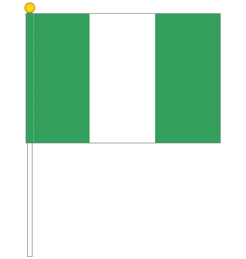Product Made In Japan Of The World National Flag Nigeria National Flag Portable Flag Product Made In Handflag High Quality Tetoron With 25 37 5cm