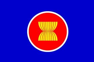 東南亞國家聯盟[東南亞國家聯盟]國旗[140*210cm、高級的特托龍製造]