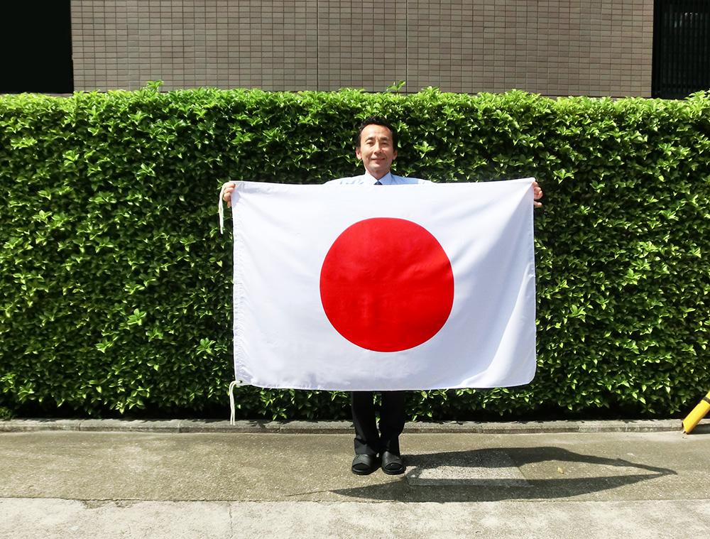 水をはじく撥水加工付き 日の丸 往復送料無料 割り引き 日本国旗 90×135cm 水をはじく撥水加工付き日本製 テトロン