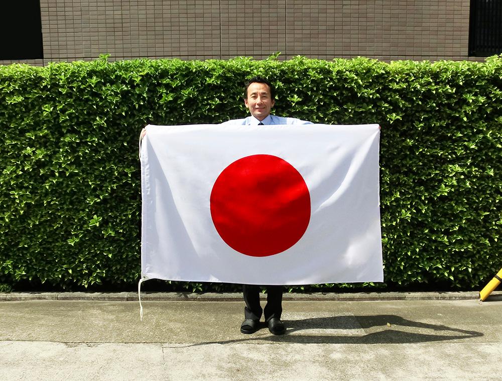 水をはじく撥水加工付き 日の丸 日本国旗 テトロン 期間限定特価品 希望者のみラッピング無料 100×150cm 日本製