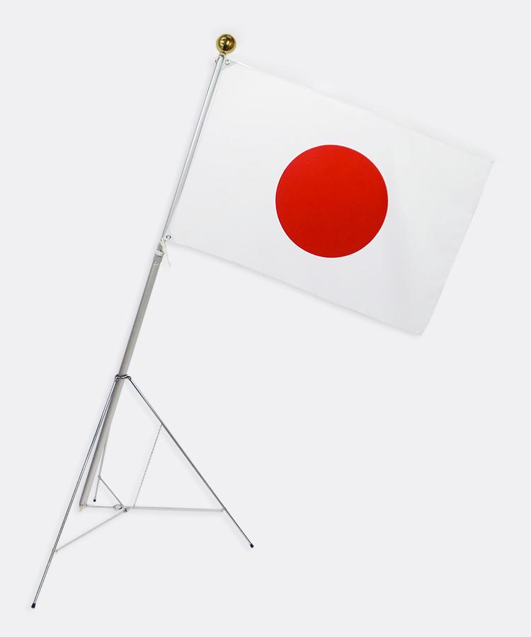 高級大型国旗日の丸セット[大型テトロン国旗・90×135cm・収納ケース付き]【smtb-u】・安心の日本製
