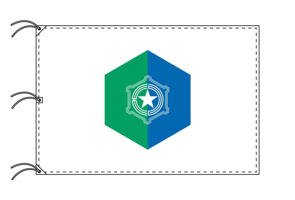 札幌市の市旗(北海道・道庁所在地)(サイズ:140×210cm)テトロン製・日本製