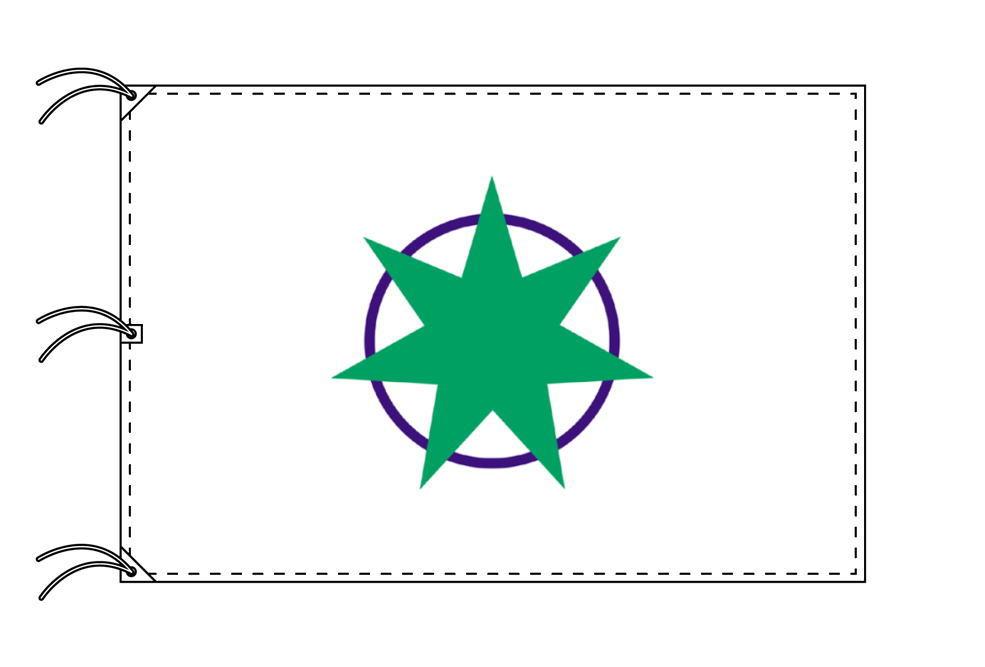青森市の市旗(青森県・県庁所在地)(サイズ:140×210cm)テトロン製・日本製