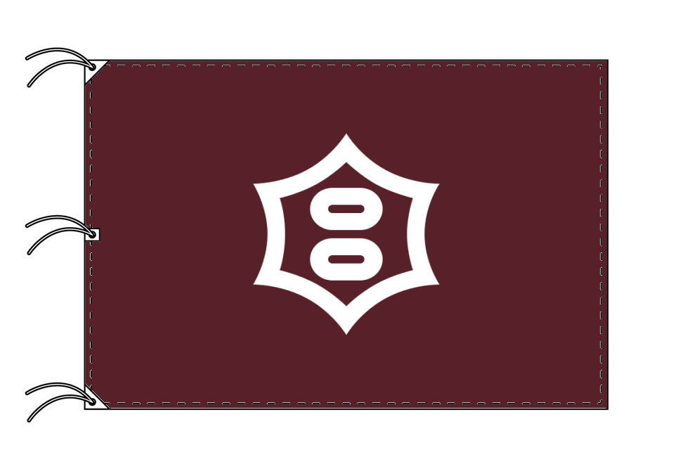 宇都宮市の市旗(栃木県・県庁所在地)(サイズ:140×210cm)テトロン製・日本製