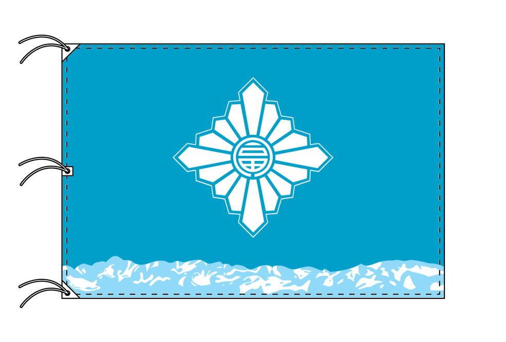 富山市の市旗(富山県・県庁所在地)(サイズ:140×210cm)テトロン製・日本製